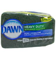 Heavy Duty Scrubber Sponge 3ct