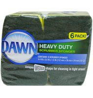 Heavy Duty Scrubber Sponge 6ct